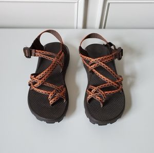 CHACO | Orange Double Strap Vibram Shoes | 10